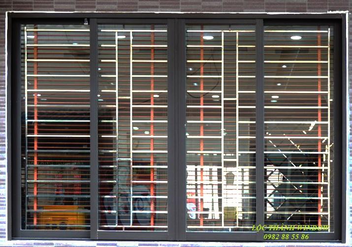 Cửa sổ lùa 4 cánh hệ XingFa